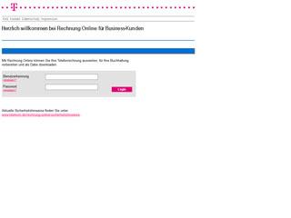 get my invoice from Deutsche Telekom Business Kunden Rechnung Online