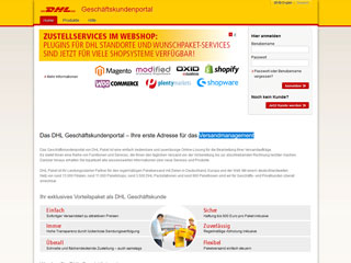 get my invoice from DHL Geschäftskundenportal (Transport and logistics)