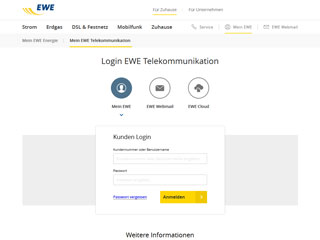 get my invoice from EWE Telekommunikation