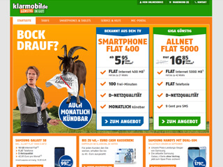 get my invoice from klarmobil.de