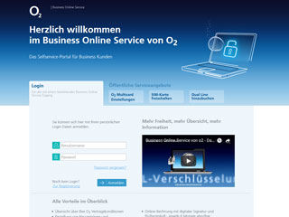 get my invoice from O2 Business Online Service