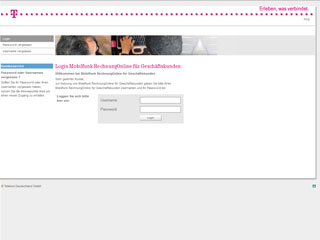 get my invoice from T-Mobile Business RechnungOnline (Telecommunication)